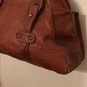 "Anthropologie Bags - Anthropologie Leather handbag ""Corsia"" brand!"